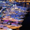 Night View Of The Monaco Yacht Show 2009